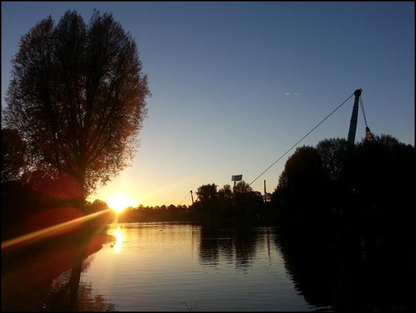 Sonnenuntergang Olympiapark München