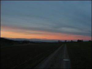 Sonnenuntergang beim Radlfahren (Foto: urs_kyburz_ch)