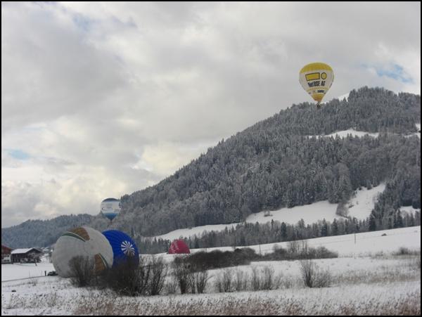 Startplatz der Heißluftballons