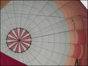 im Heißluftballon