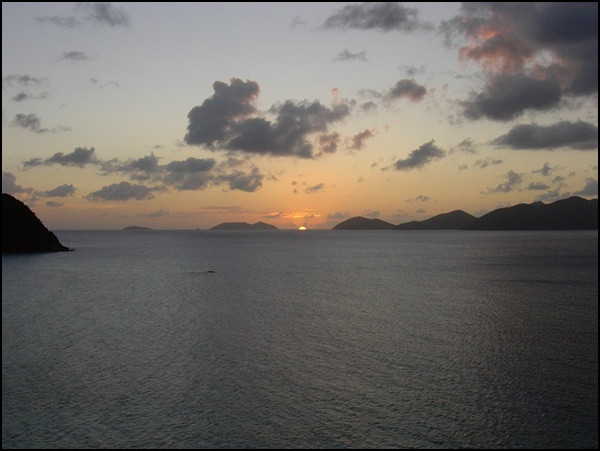 Sonnenuntergang British Virgin Islands