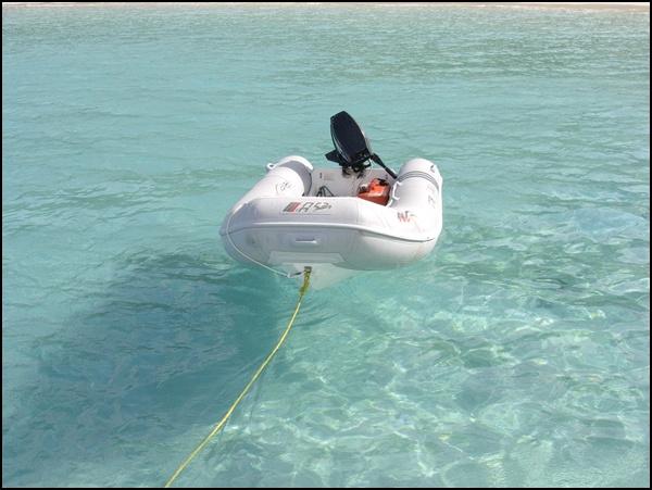 Schlauchboot in der Karbik