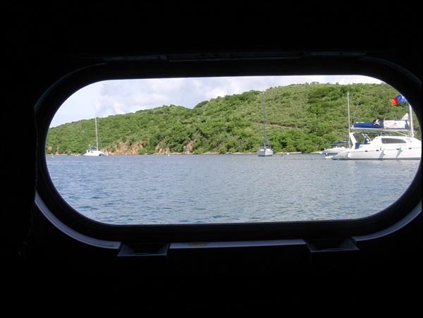 Blick aus der Yacht
