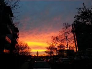 Sonnenaufang in München