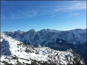 Blick auf den Wilden Kaiser in Tirol