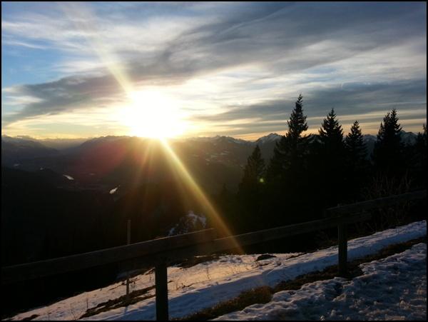 Sonnenuntergang Vorderkaiserfeldenhütte