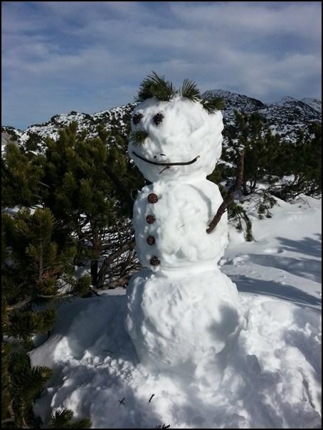Schneemann am Petersköpfl