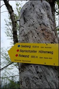 Start zum Bayrischzeller Höhenweg