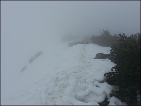 Weg zum Geigelstein Gipfel