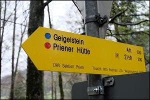 Wanderweg zum Geigelstein