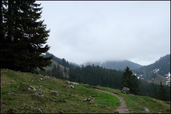 Geigelstein im Nebel