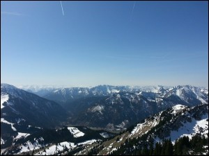Aussicht vom Wildalpjoch über die Alpen