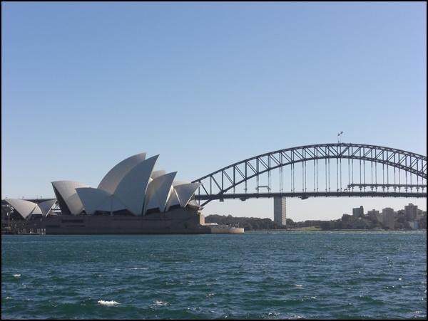 Sydney Bridge und Opernhaus
