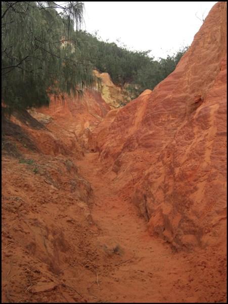 rote Felsen von Teewah