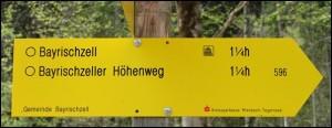 Wegweiser Bayrischzell