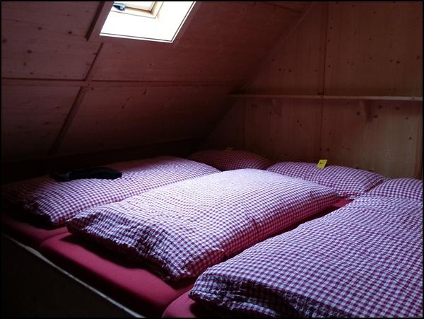 Zimmer bei der Hüttentour in den Tannheimer Bergen