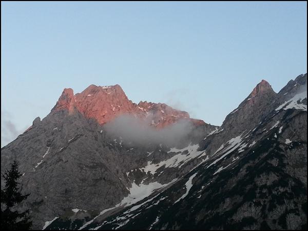 Sonnenuntergang Tannheimer Berge