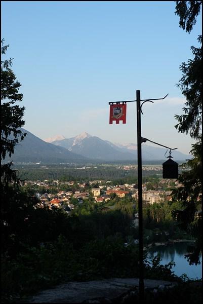 Blick von der Burg auf Bled