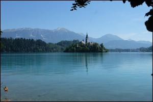 See und Insel in Bled Slowenien