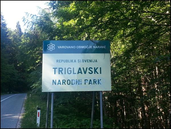 Eingang Triglav Nationalpark