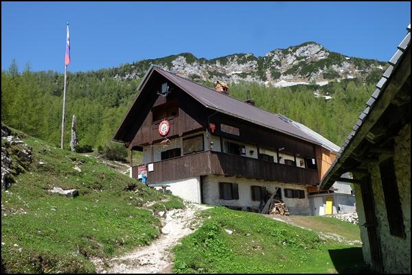 Hütte im Triglav Nationalpark Slowenien