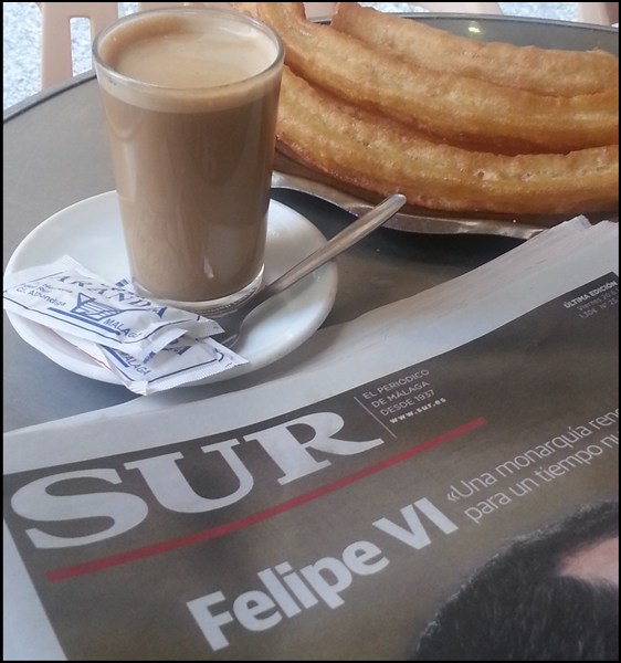 Frühstück in Spanien