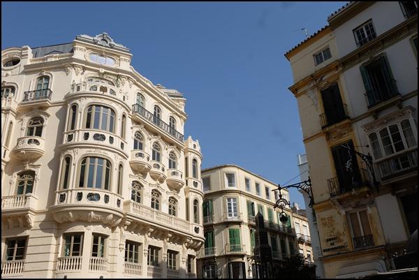 Innenstadt von Málaga Andalusien