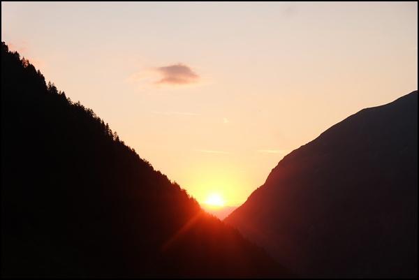 Sonnenuntergang von der Preintaler Hütte