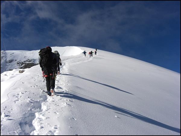 Das letzte Stück bis zum Gipfel...