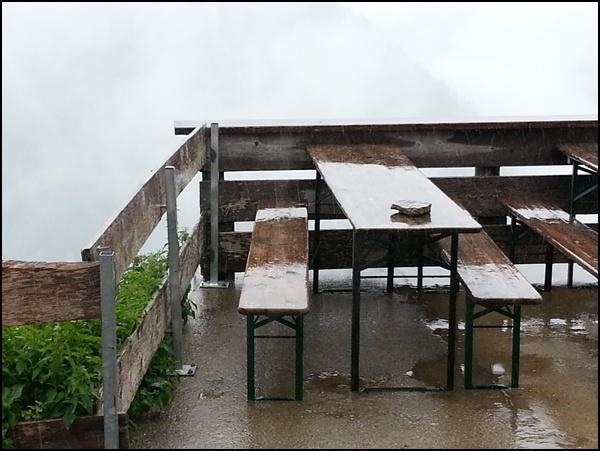 Dauerregen am Prinz-Luitpold-Haus