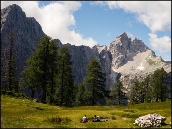 Natur pur in den Julischen Alpen.