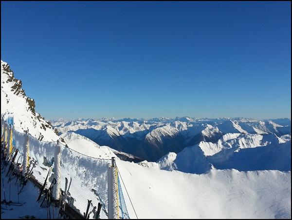 Blick vom Top Mountain Star auf die Dolomiten