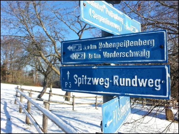 Schilder am Hohen Peißenberg