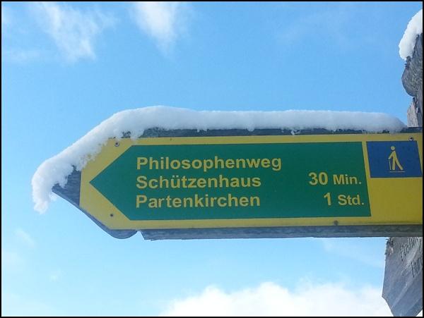 Kleine Winterwanderung: auf dem Philosophenweg von Farchant nach Partenkirchen