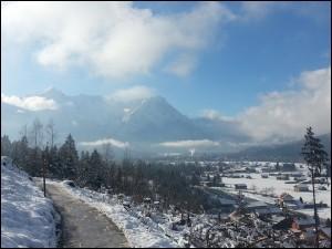 Die Zugspitze vom Philosphenweg aus
