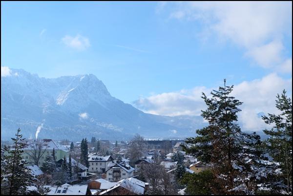 Winter in Garmisch-Partenkirchen - Blick vom Philosophenweg aus