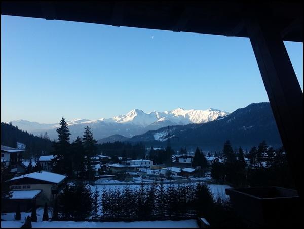 Balkonblick früh am Morgen