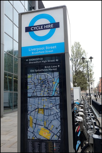Fahrrad-Leihstation Liverpool Street