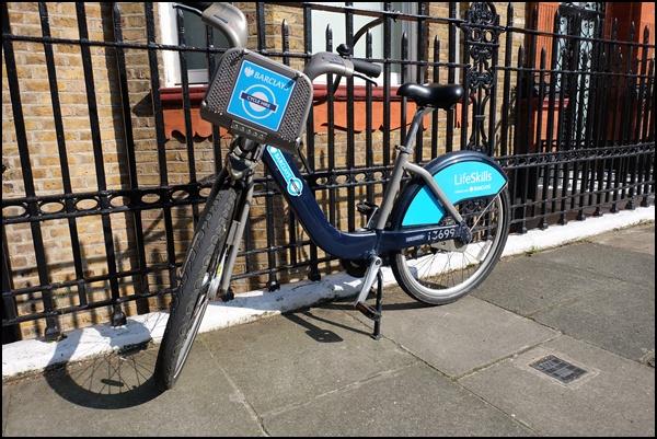 Mit dem Fahrrad durch London