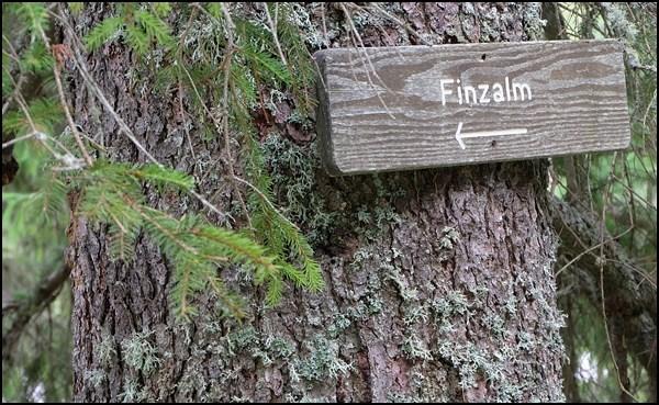 Wanderwegweiser zur Finzalm
