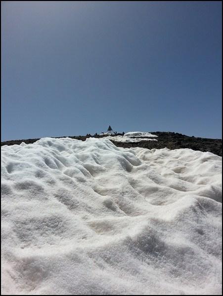 Die letzten Meter bis zum Toubkal Gipfel