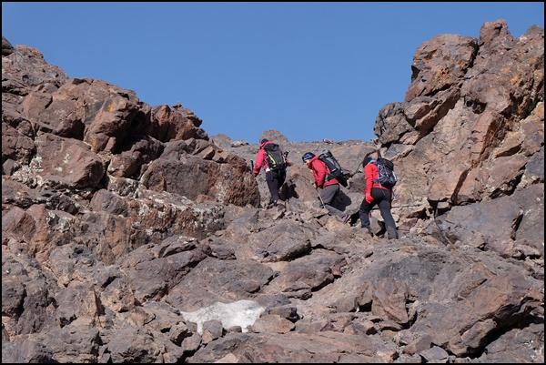 Kraxelnd auf die Viertausender in Marokko