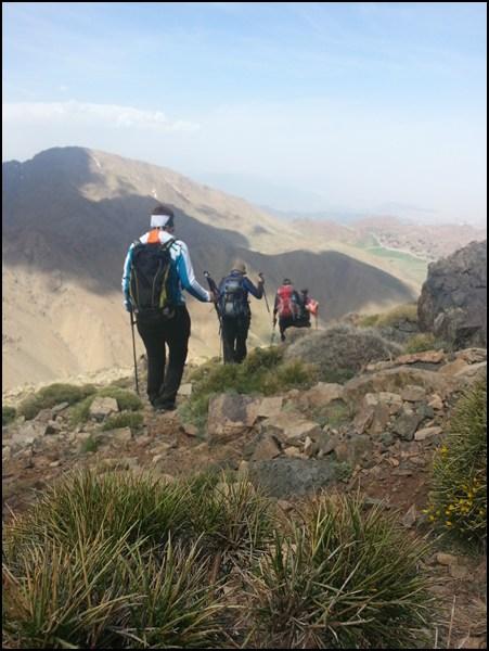 Wanderer in Marokko