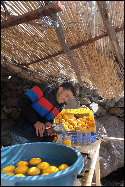 Orangensaft in Marokko