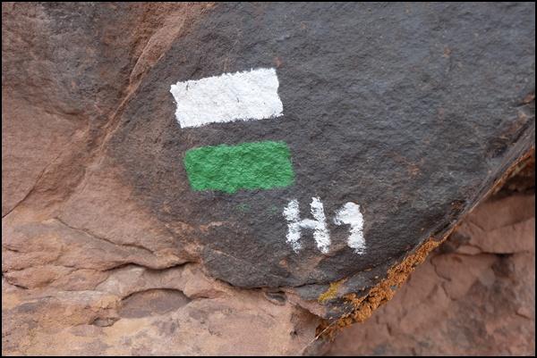 Die einzige Wandermarkierung im Hohen Atlas