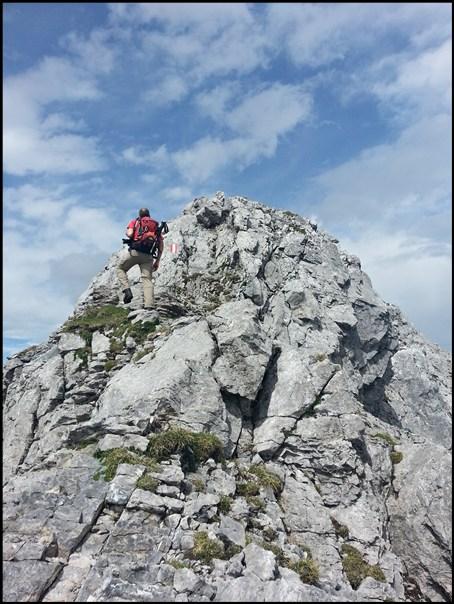 Die vorletzte Kletterstelle...