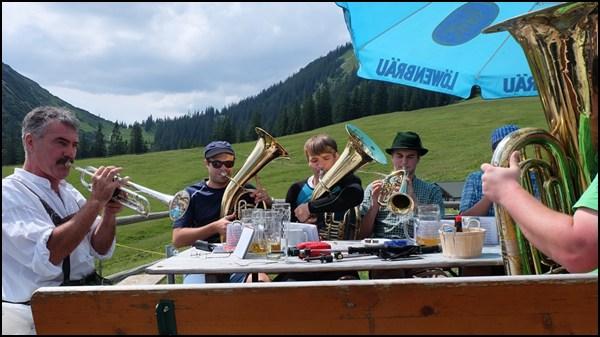 Musiker auf der Stepbergalm
