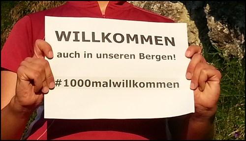 #1000malwillkommen – eine Aktion gegen Fremdenhass