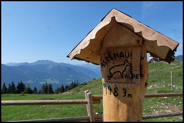 Astenau Alpe über dem Inntal