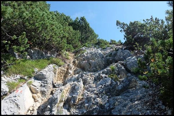 steiniger Wanderweg zum Ebnerjoch